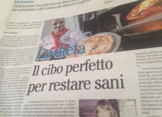 """La mia intervista sulla """" pizza """" pubblicata su Il Mattino"""