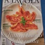 """Intervista sul mensile di cucina """" A Tavola """" – settembre 2015"""