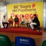 Talk show con il giornalista Paolo Massobrio – Sagra del peperone di Carmagnola agosto 2015