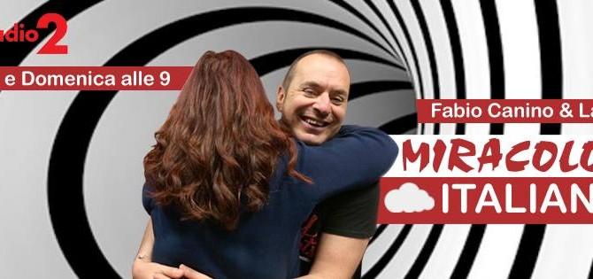 """Intervista per la trasmissione """" Miracolo Italiano """" di radio2 sulla relazione cibo – musica"""