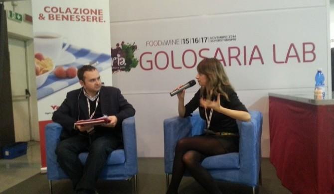 """La mia intervista su """" alimentazione e sport """"a Golosaria Milano 2014"""