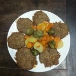 Hamburger di teff e patate