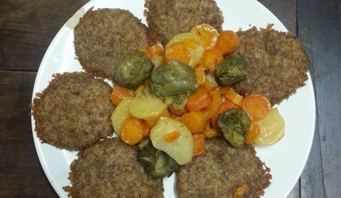 Hamburger di teff e patate