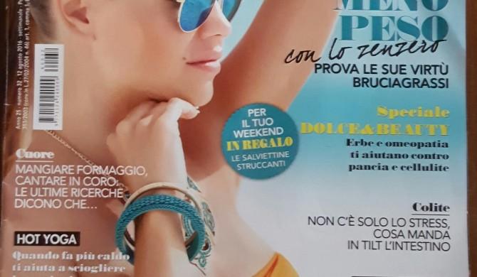 """Sul settimanale """" Viversani&belli """" – agosto 2016"""