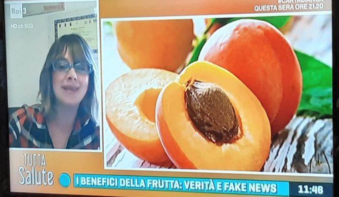 """Partecipazione al programma di Raitre """" Tutta Salute """" per parlare di fake news sulla frutta – puntata del 9 giugno 2020"""
